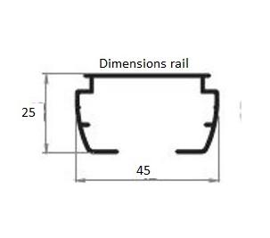 Store à bandes verticales standard