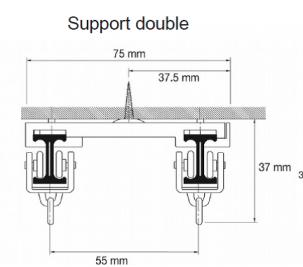 Rail à rideau flexible