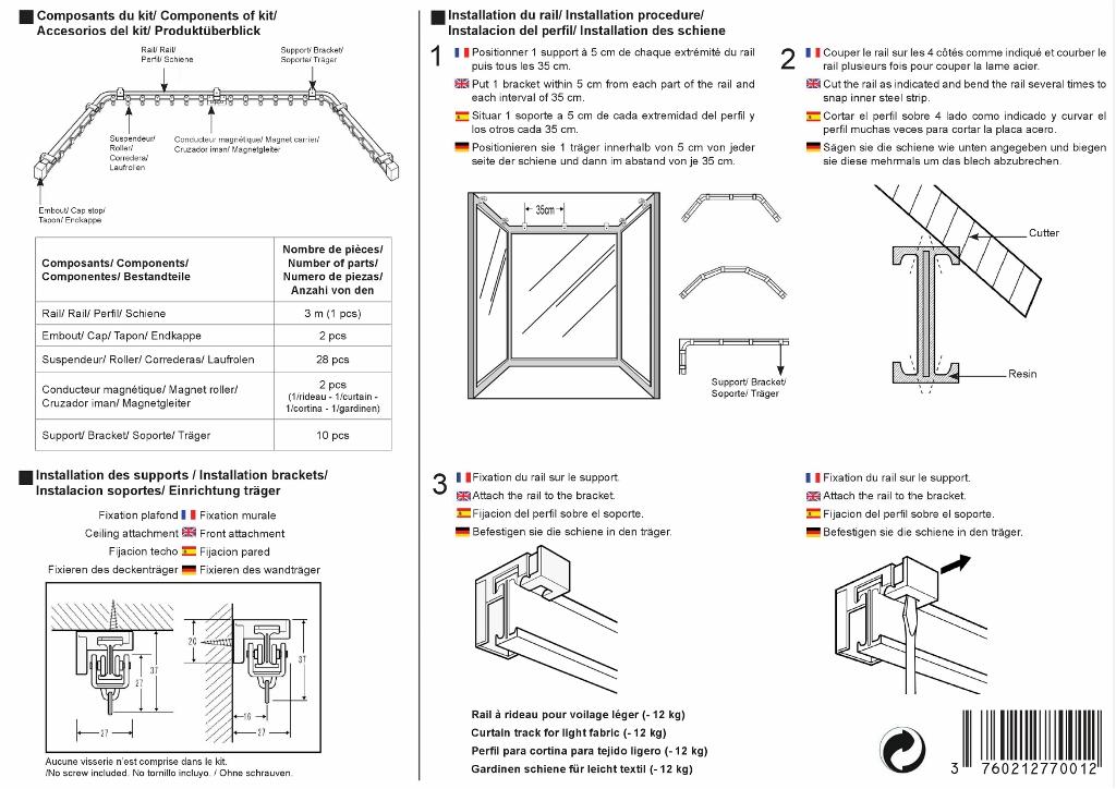 notice de pose rail flexible